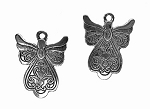 SOLDOUT - Tibetan Silver Double Sided Fancy Angel Pendant