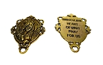 SOLDOUT - Immaculate Heart Pray for Us Catholic Rosary Station, Antique Gold Finish