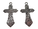 Large Zebra Cross Necklace