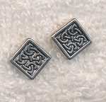 Celtic Beads, Antique Silver Diamond Knot Beads, 13mm (20)