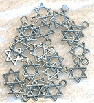 SOLDOUT - Small Star of David Charms, Antiqued Silver Jewish Charms, Bulk (20)