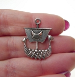 Dragon Viking Ship Necklace, Viking Jewelry