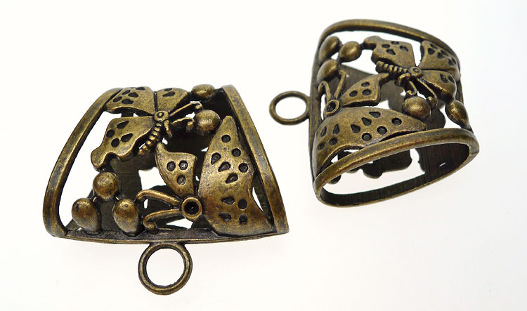Bronze Large Butterfly Bails (5)