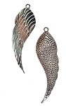 Large Angel Wing Pendants, 52x16mm Angelwing Pendants, Bulk (10)