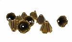 Brass Decorative Fluted Jewelry Cone Cap (1)