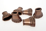 Jewelry Cones, Antiqued Copper (6)