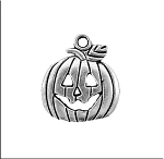 Halloween Jewelry, Jack-O-Lantern Charm, Halloween Pumpkin Necklace or Earrings