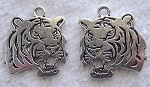 Double Sided Tiger Pendant 25mm