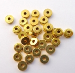 Plain Tire Spacers 2x5mm Bright Gold Bulk (30)