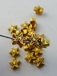 Star Bead, 6mm, Gold Finish