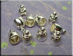 Silver Pewter Domed Bell Endcaps with 5.5mm Opening 10 per bag