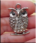 Crystal Owl Pendant, Owl Necklace