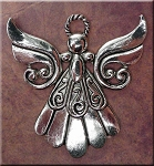 Large Angel Pendants, Antique Silver (6)