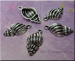 Conch Shell Charm 25x13x6mm Antique Silver