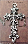Fancy Cross Necklace, Everyday Silver Christian Jewelry
