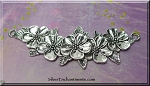 Silver Pewter Large Flower Necklace Station Flower Jewelry Connector