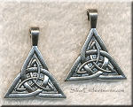 Silver Triquetra Necklace, Trinity Knot