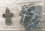 Lacy Cross Pendant, Antiqued Silver Christian Cross Jewelry