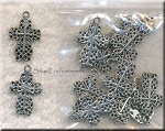 Lacy Cross Necklace - Everyday Silver Cross Jewelry, 21x14mm