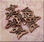 Copper Butterfly Charms (10)