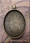 Brass Oval Bezel Pendants, Bailed (5)