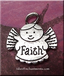 SOLDOUT - Faith Angel Pendants, Antique Silver Angel Jewelry (10)