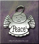 SOLDOUT - Peace Angel Pendants, Antique Silver Angel Pendants, Bulk (10)