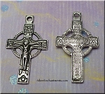 Orthodox Double-Sided Crucifix Pendant, Antique Silver