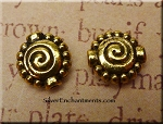 Gold Pewter Fancy Spiral Bead