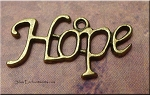 Brass Hope Charm, Antique Brass Pewter Hope Charms (1)