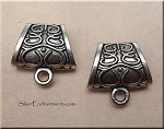 Large Decorative Bails with Scroll Design, Antique Silver (6)