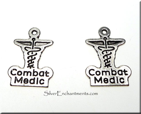 Double-Sided Combat Medic Charm-Pendant