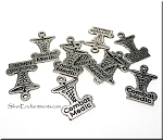 Double Sided Combat Medic Charms, 20x13mm