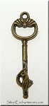 Bronze Key Pendants, Ornate Victorian Keys (10)