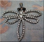 Large Crystal Dragonfly Pendant, Jet-Finish