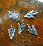 Arrowhead Charms, Bailed Antique Silver (20)