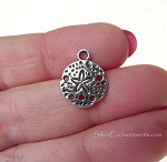 Sand Dollar Charms, Antique Silver (20)