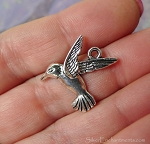 Hummingbird Charms, Antique Silver (10)