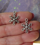 Snowflake Charms, 20x15mm, Bulk (15)