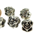 Tibetan Silver Clown Beads with 4mm Hole (10)