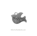 Peace Dove Charms, Antique Silver (10)