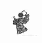 Praying Angel Charms-Pendants with Texture (10)