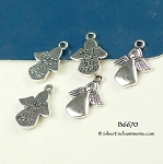 Made for an Angel Jewelry Tags-Charms, Antique Silver (10)