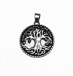 Tree of Life Pendant, Tree of Life Necklace, 25mm