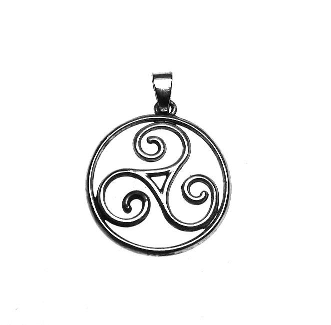 Silver triskele pendant triskelion celtic spiral necklace silver triskele pendant triskelion celtic spiral necklace aloadofball Image collections