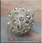 Pave Crystal Ball Bead, 26mm