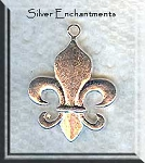 Fleur-de-Lis Necklace, Silver New Orleans Lily Necklace