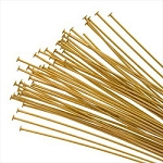 Gold Plated Head Pins 2-inch (50)