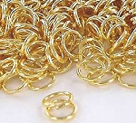 10mm Gold Plated Jump Rings, 18-gauge (50)