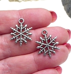 Snowflake Necklace, Everyday Silver Yuletide Jewelry